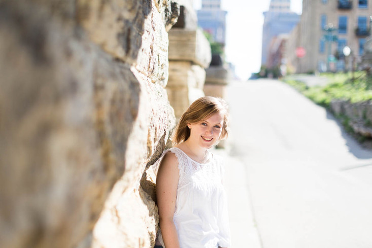 Greta's Senior Portraits: Stone Arch, Minneapolis
