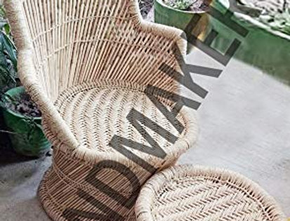 Bamboo Mudda Chair & Stool Set