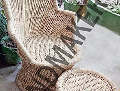 Bamboo Mudda Chair & Stool Chair Set