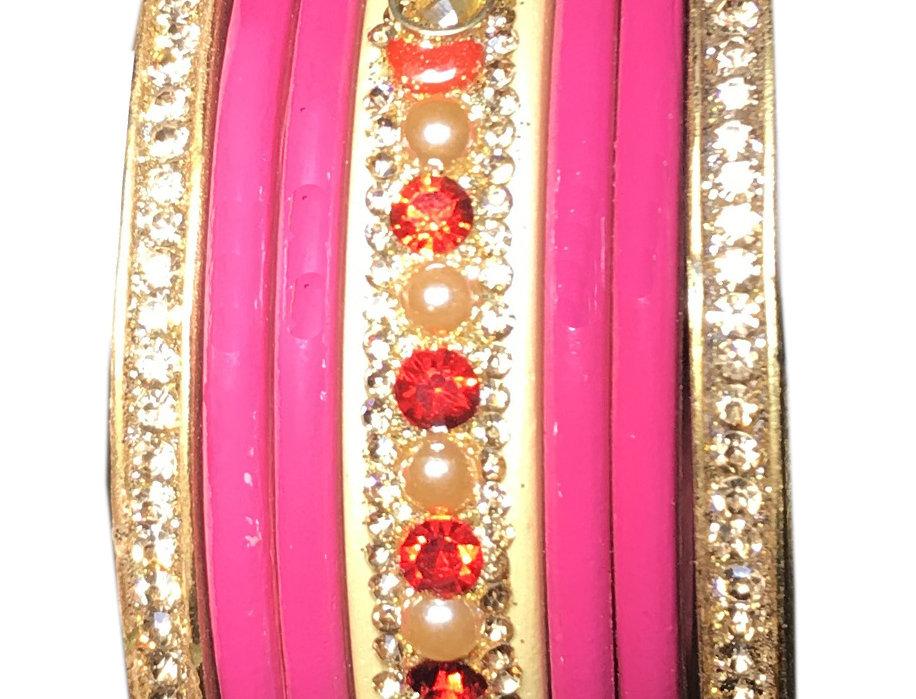 Pink Chudi With Gold Platted LAKH CHUDA