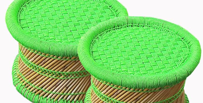 Green Bamboo Mudda Stool Combo Pack