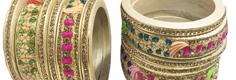 Handmakers ! Gold Platted Lac Chuda ! Lakh Bengals | Kangna