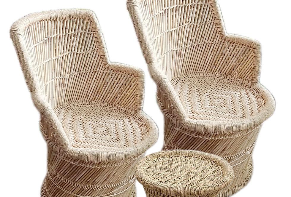 Bamboo Mudda Chair Set With ( 2 +1 )