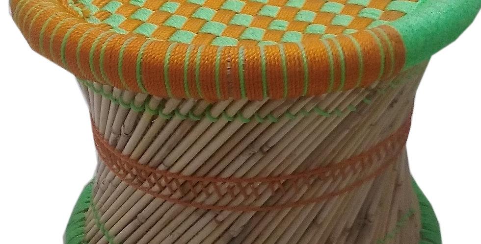 Orange and Green Bamboo Mudda
