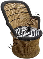 Bamboo_Mudda_Chair_With_Black_White_Fron