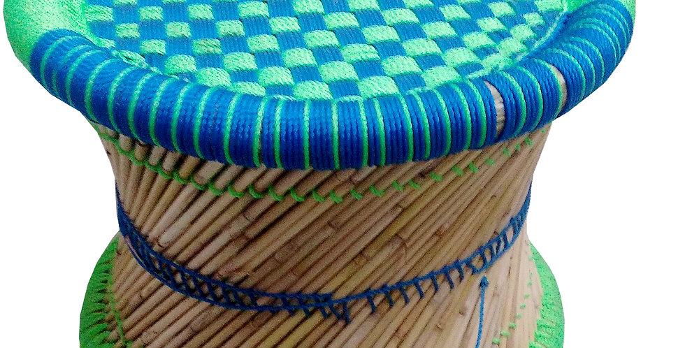 Blue & Green Mudda Stool