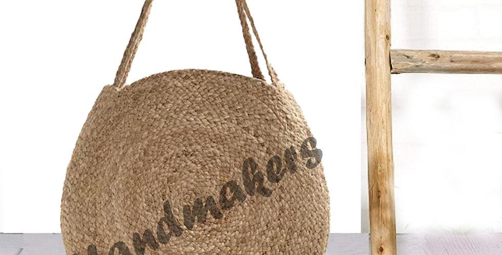 Natural Jute Round Women Handbag