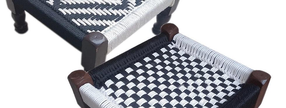 Black & White Chowki (PIDDA) Combo SET