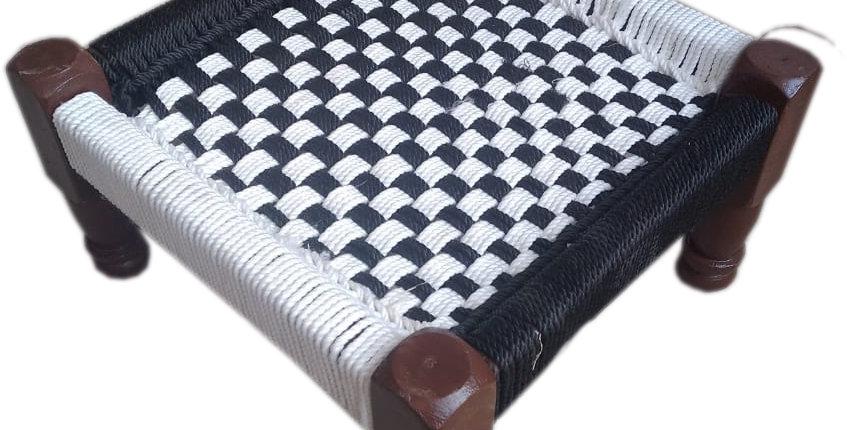 White & Black Chess Board Design Chowki