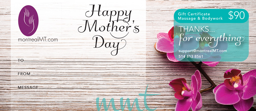 eGift Mother's Day Massage Gift Card