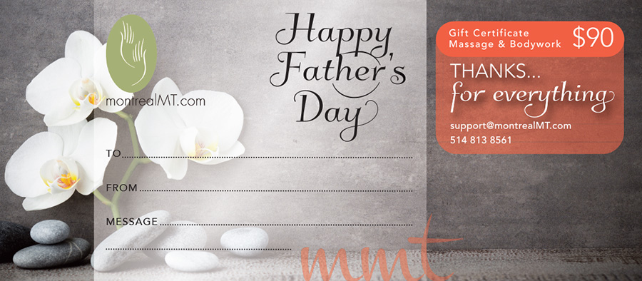 eGift - Father's Day Massage Gift
