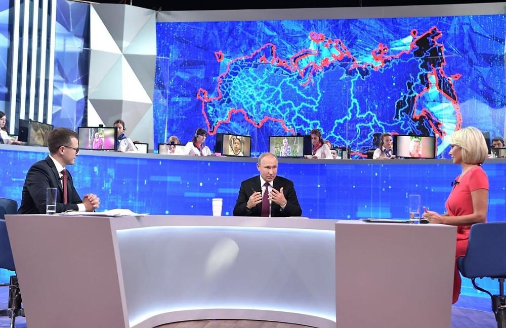 Прямая линия с Президентом Российской Федерации Владимиром Путиным