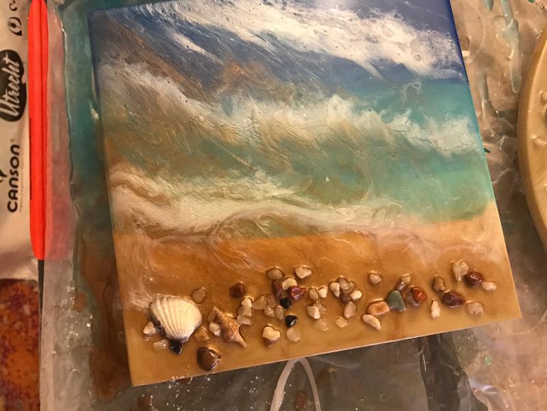 Beach Resin pour over