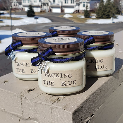 Backing the Blue Specialty Soy Candle