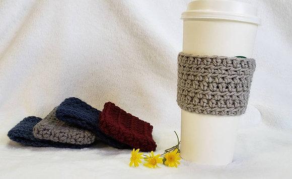 Light Gray Crochet Reusable Coffee Sleeve