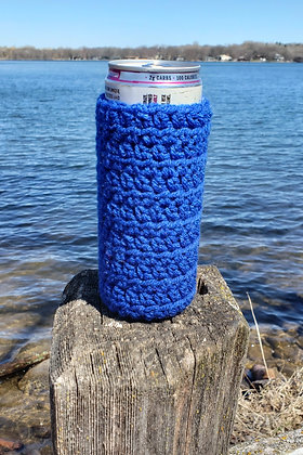 Navy Blue Slim Can Cooler