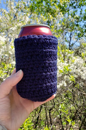 Dark Blue Can Cooler