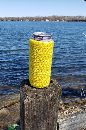 Yellow Slim Can Cooler