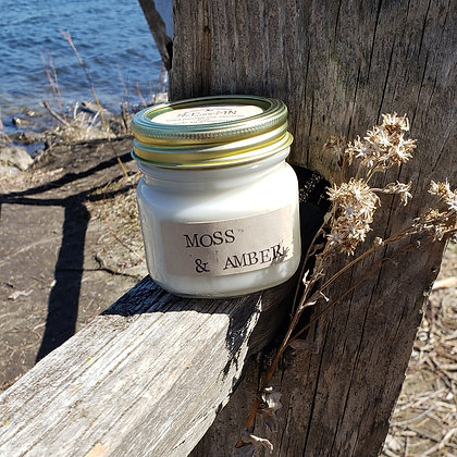 Moss & Amber Soy Candle