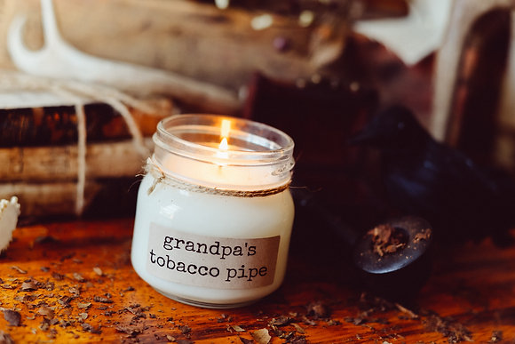 Grandpa's Tobacco Pipe Soy Candle