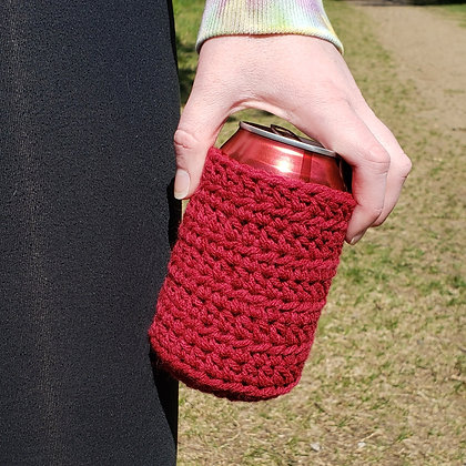 Maroon Can Cooler