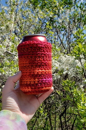 Red Multi-Color Can Cooler