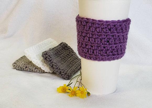 Light Purple Crochet Reusable Coffee Sleeve