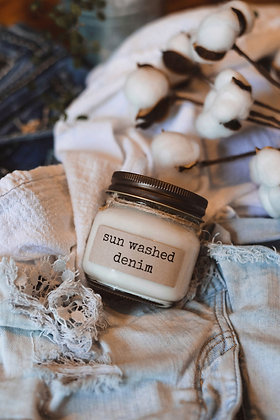 Sun Washed Denim Soy Candle