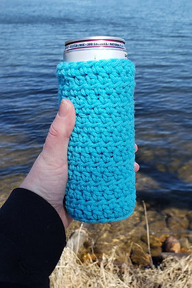 Light Blue Slim Can Cooler