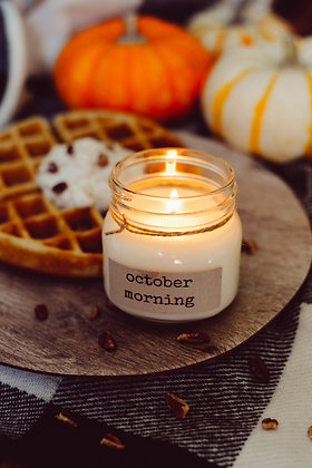 October Morning Soy Candle