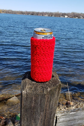 Red Slim Can Cooler