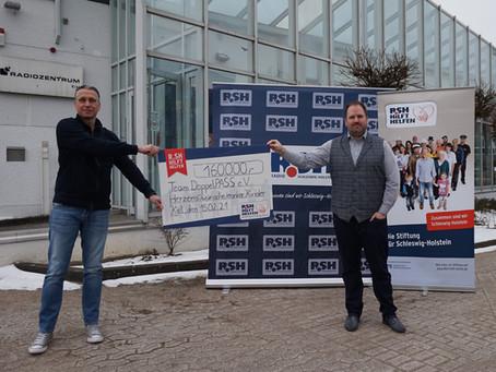 Mit Ihrer Hilfe: 160.000 Euro an Team DoppelPASS e.V.!