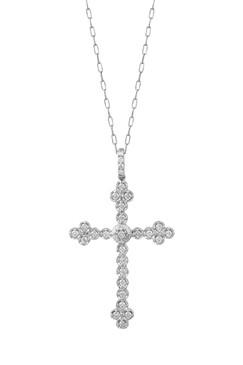 Crucifixo delicado com brilhantes