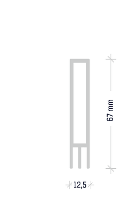 Steckkederprofil 55/25