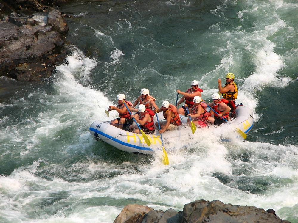 Negotiating the rapids!