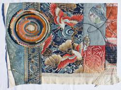 "Cindy Rinne / ""Ravishing Cranes"" / Fiber Art / 20x24 / $575"