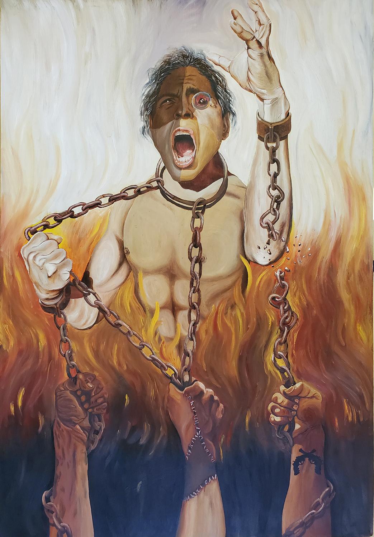 """Nestor Garcia / """"Redemption"""" /  Oil / 26x38 / NFS"""
