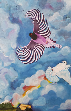 "Shellise Berry / ""Promise"" / Acrylic On Canvas / 24x36 / $700"
