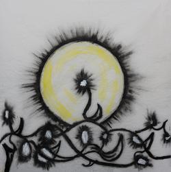 "Jodi Icon / ""Healing - Mixed Media (Acrylic, Oil Stick, Water Ink) / 20x20 / $50"