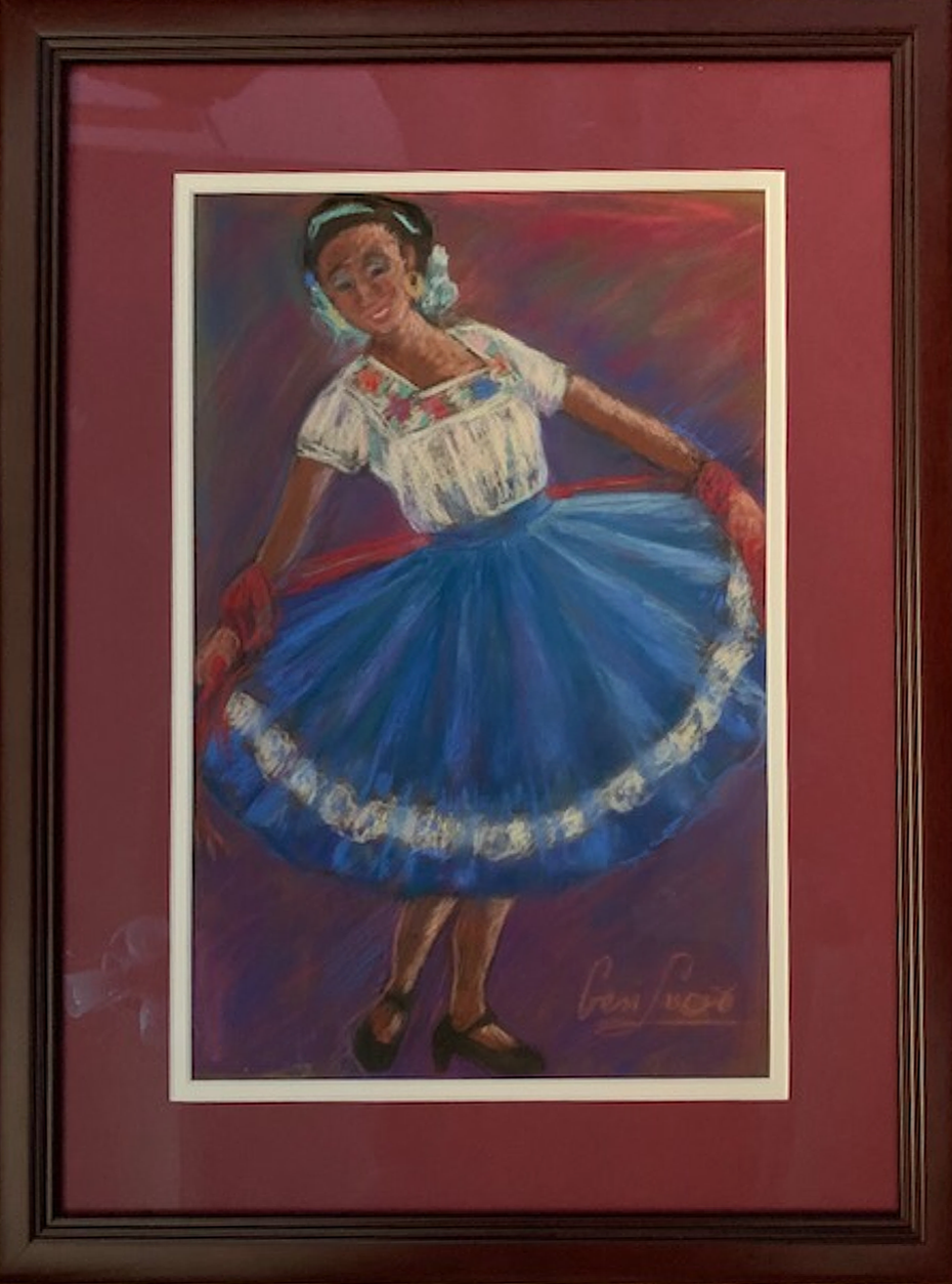 "Geri Lucio / ""Taking a Bow"" / Pastel / 16.5x22 / NFS"