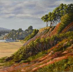 "Elisa Arancibia / ""Monterey Bay"" / Oil / 18x18 / NFS"