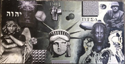 """Tom Fontanes / """"P.T.S.D."""" / Mixed Media Collage / 23x19 / NFS"""