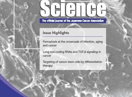 齋藤先生の論文がCancer Science (volume 111, issue 8, August 2020)の表紙を飾りました
