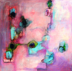 """Adeola Davies-Aiyeloja / """"Enchanted Colors #2"""" / Mixed Media / 20x20 / $995"""
