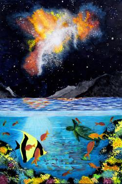 "Shellise Berry / ""Limitless Love"" / Acrylic On Canvas / 24x36 / $715"