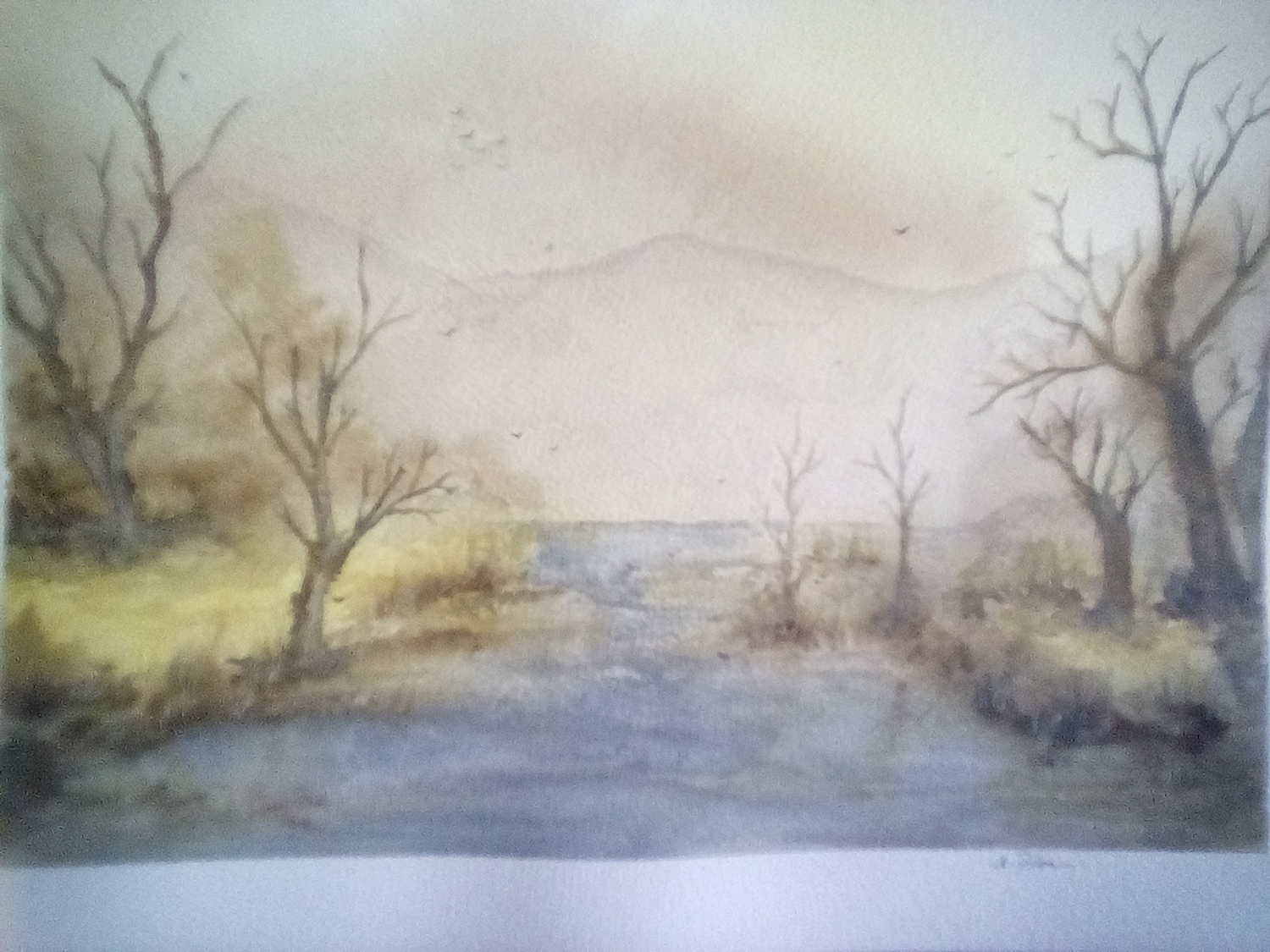 "Esther Florin / ""Montecore Hollow"" / Watercolor / 9x12 / $400"