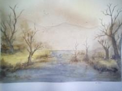 "Esther Florin / ""Montecore Hollow"" / Watercolor / 9x12 / $400"