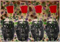 "Alicia Ramirez / ""Eventually"" / Mideaaper, Watercolor, Decollage / 18x24 / NFS"