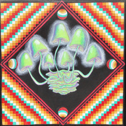 "Morgan Harchick / ""Mycena chlorophos"" / Acrylic On Canvas / 12x12 / NFS"