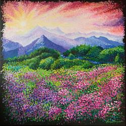 "Tanya Bryant / ""Superbloom"" / Acrylic On Canvas / 24x30 / $360"